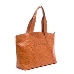 Ostrich Leather Bag Overnight Handbags