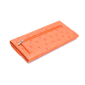 Ostrich Leather Purse French Leather