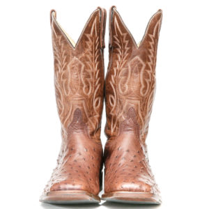 Ostrich Leather Western Boot: Men Boots