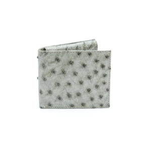 Ostrich Leather Billfold Pull Out Leather