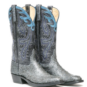 Ostrich Leather Western Boot: Ladies