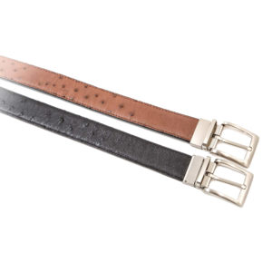 Ostrich Leather Belt 35mm Double