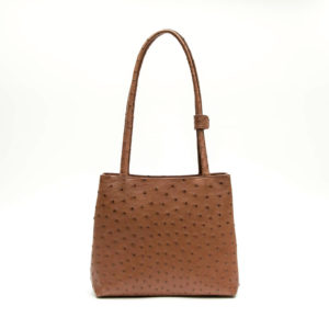 Ostrich Leather Bag Leani Mini