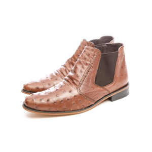 Ostrich Leather Mens Shoe Italian