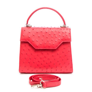 Ostrich Leather Bag Toba