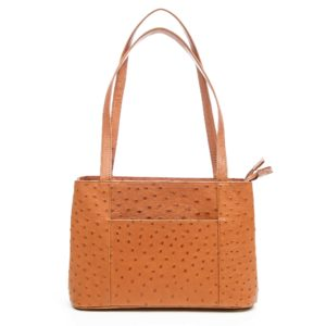 "Ostrich Leather Bag ""H"""