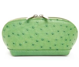 Ostrich Leather Cosmetic Pouch Accessories
