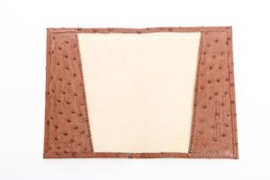 Kango Tabac - Ostrich Leather Passport Cover