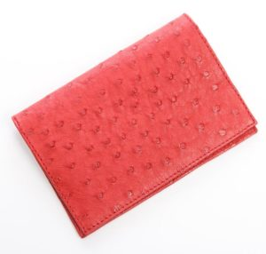 Flame Red - Ostrich Leather Passport Cover
