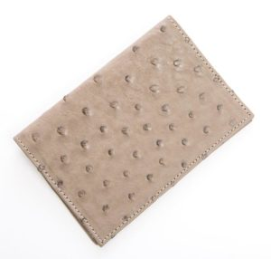 Mouse - Ostrich Leather Passport Cover