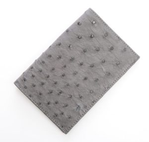 Anthracite - Ostrich Leather Passport Cover