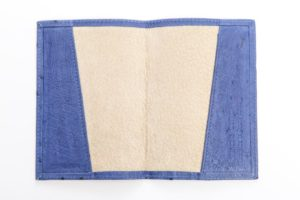 Mod Blue - Ostrich Leather Passport Cover