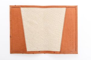 Brandy - Ostrich Leather Passport Cover