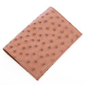 Ostrich Leather Passport Cover