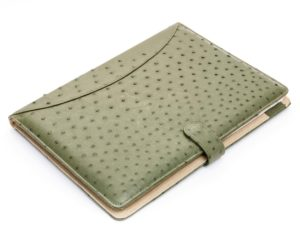 Forest Green - Ostrich Leather A4 Folder