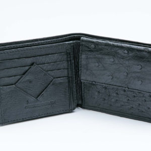 Ostrich Leather Mens Wallet Diamond
