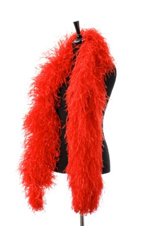 Bright Red - Ostrich Feather Boa 8ply