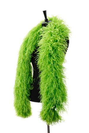 Lime - Ostrich Feather Boa 8ply