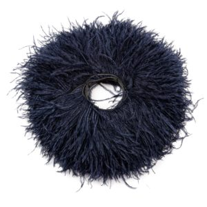 Navy - Ostrich Feather Fringing