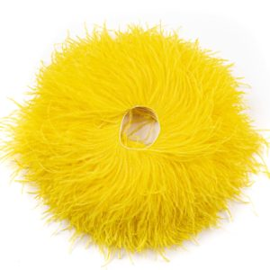 Yellow - Ostrich Feather Fringing
