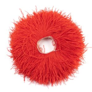 Bright Red - Ostrich Feather Fringing