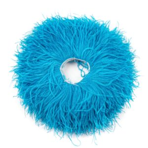 Turquoise Light - Ostrich Feather Fringing