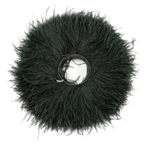 Bottle Green - Ostrich Feather Fringing