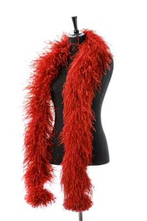 Dark Red - Ostrich Feather Boa 8ply