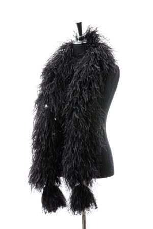 Black - Ostrich Feather Boa 8ply