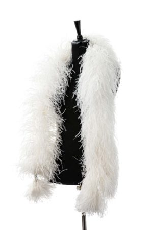 Ivory - Ostrich Feather Boa 8ply