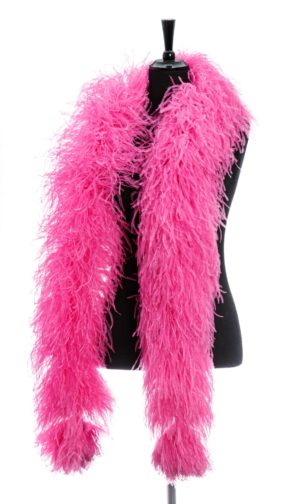 Bright Pink - Ostrich Feather Boa 8ply