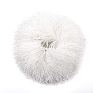 White - Ostrich Feather Fringing