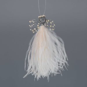 Ostrich Feather Angel Evette-Cream