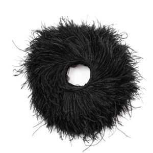 Black - Ostrich Feather Fringing