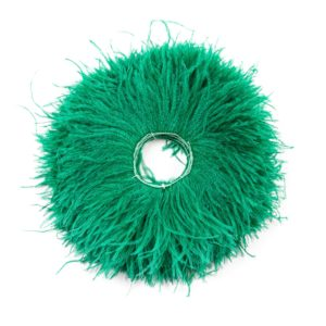Emerald Green - Ostrich Feather Fringing