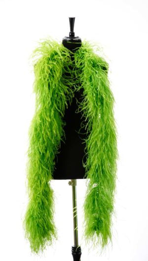 Lime - Ostrich Feather Ruche