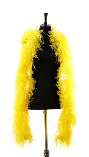 Yellow- Ostrich Feather Ruche