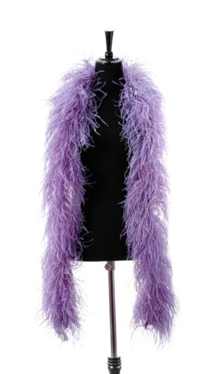 Lilac - Ostrich Feather Ruche
