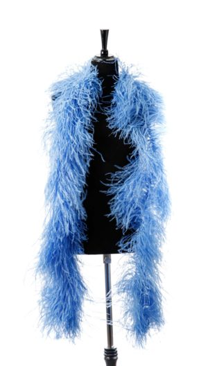 Sky Blue - Ostrich Feather Ruche
