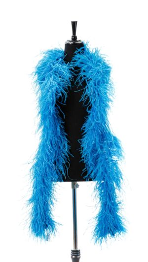 Turquoise Light - Ostrich Feather Ruche