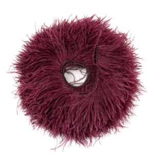 Maroon - Ostrich Feather Fringing