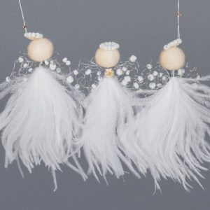Ostrich Feather Angel Garland-Lisa X 3 Baby