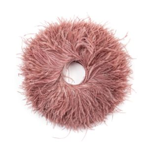 Aubergeen - Ostrich Feather Fringing