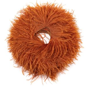 Rust - Ostrich Feather Fringing