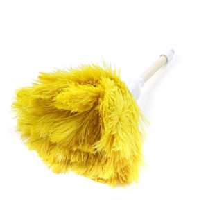Yellow - Ostrich Feather Toy Duster
