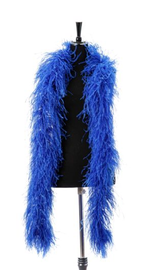 Royal blue - Ostrich Feather Ruche