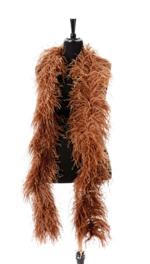 Sable - Ostrich Feather Ruche