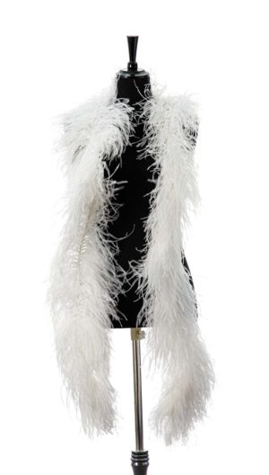 Ivory - Ostrich Feather Ruche