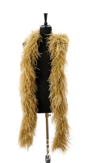 Old Gold - Ostrich Feather Ruche